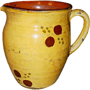 19th Century Jaspe Pitcher