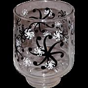 "Vintage Black & White ""Snowflake"" Beverage Glasses"
