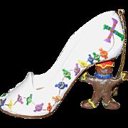 Gingerbread Man High-Heeled Christmas Shoe Ornament
