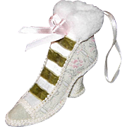 Tapestry/Brocade Fabric High-Heeled Shoe-Boot Ornament