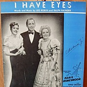 I Have Eyes /Paris Honeymoon– 1938