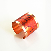 Copper Cuff Bracelet --Solid Copper Bracelet with patina Design - Cuff Bracelet- Copper Bracelet-Women's Bracelet-