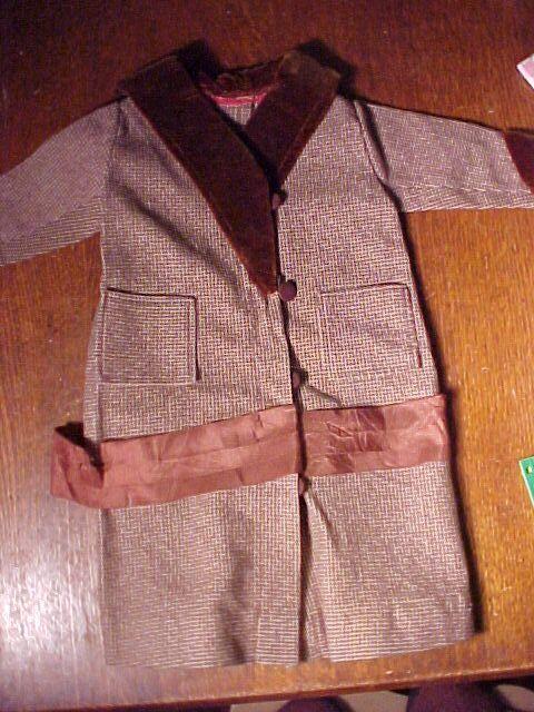 Antiique Brown Wool Doll Coat