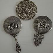 Three Vintage Pocket Mirrors