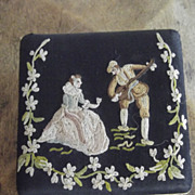 """Compact  With Fine Needlework""""Broderie Main"""""""