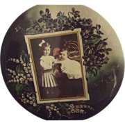 Large Edwardian Children's  Picture On Stand