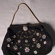 "Pretty Vintage ""DeLiLL"" Beaded Bag"