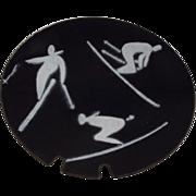 Bovana Modernist Skier Ashtray