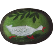 Enamel Dish With Duck