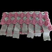 Crochet and Ribbon Hankie Holder