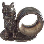 Figural Napkin Ring With Dog