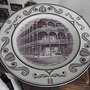 Scenes of OLd New Orleans Plate
