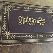 Victorian Autograph Book Rome New York