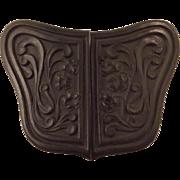 Victorian Black Mourning Belt Buckle