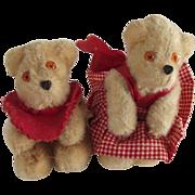 Pair of Miniature  German Petz Bears