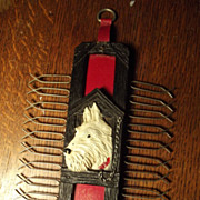 Tie Rack With Scottie Dog
