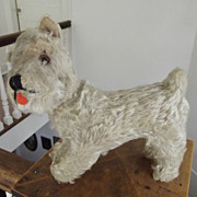 Old Straw Stuffed Dog