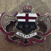 Vintage Ontario Pin With Coat of Arms