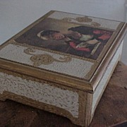 Vintage 1970 Wood Music Box