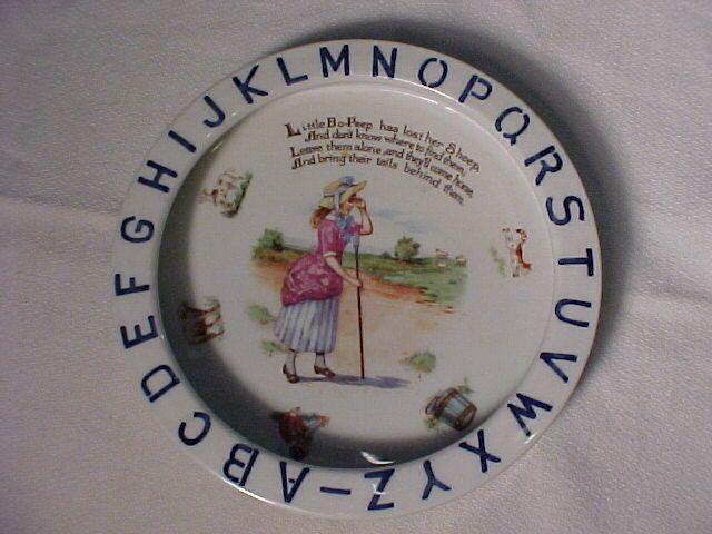 Old German ABC Plate