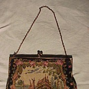 Pretty Little French Tapestry Bag