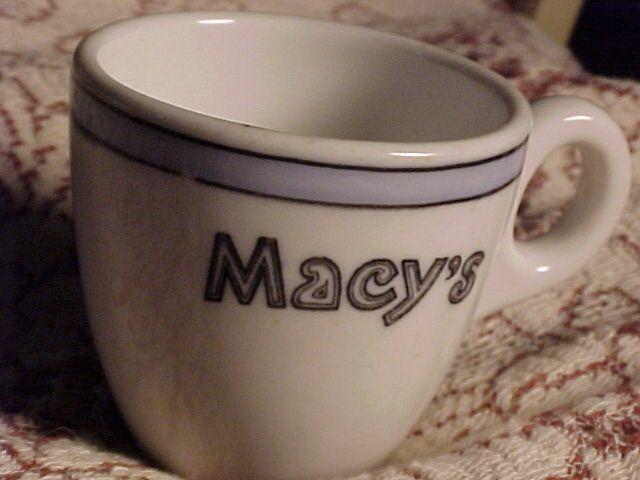 Early Macy's Demi Tasse Cup