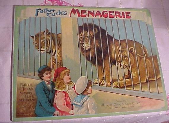"""Rare Tuck's Children's Book """" Father Tuck's Menagerie"""""""