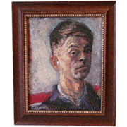 Bev Myers pastel painting  portrait of man Henry Hensche
