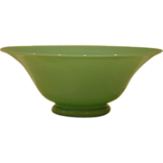 SALE Green jade art glass bowl Stevens and Williams