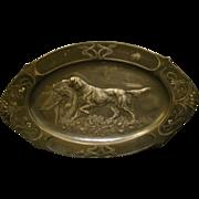 WMF Jugendstil silverplate dog platter art nouveau