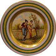 Vienna Austria beehive portrait plate Confession of Love signed