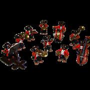 Vienna Austria cold painted bronze sculpture dachshund dog band orchestra micro miniature