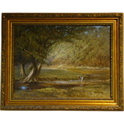James Sulkowski Pennsylvania artist oil painting woman at stream