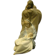Lladro Nao porcelain figurine A Child is Born Mary Joseph Baby Jesus 1439