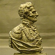 Antique Duke of Wellington cast iron doorstop