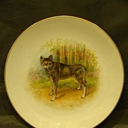 Dresden Fraureuth hand painted porcelain dog plate German Shepherd