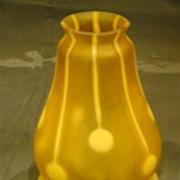 Loetz Streifen und Flecken art glass shade