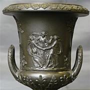 Wedgwood basalt jasperware miniature handled urn classic figures