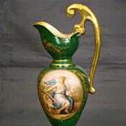 Vienna beehive porcelain portrait ewer underplate titled Klio