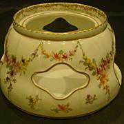 KPM floral porcelain teapot warmer or stand