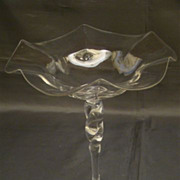 Steuben crystal tall twist stem compote Carder era shape 133