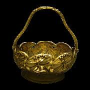 WMF silverplate art nouveau dragonfly handled basket