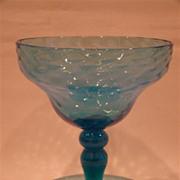 Venetian unusual blue blown art glass whimsey