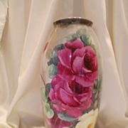 Superb, Very Large, Belleek Floor Vase; Huge & Luscious Roses