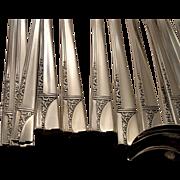 Oneida Nobility Plate CAPRICE Place Settings Vintage 1937 ART DECO Silver Plate Silverware Flatware