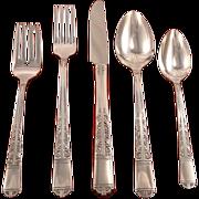 Oneida Tudor Plate Royal York aka Oakleigh Grille Viande Place Settings Vintage 1937 ART DECO Silver Plate Silverware Flatware