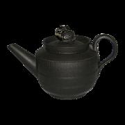 18th Century English Black Basalt Teapot