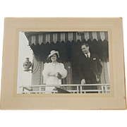 1937 Original Photograph of King George VI and Queen Elizabeth in Canada