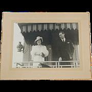 1937 Original Photograph of King George VI and Queen Elizabeth in Canada