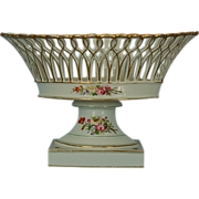 Early 19th Century Continental Reticulated Porcelain Centerpiece Bowl